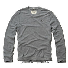 NEW ABERCROMBIE & FITCH for MEN * A&F Meacham Lake L/S Tee T Shirt Heather Grey