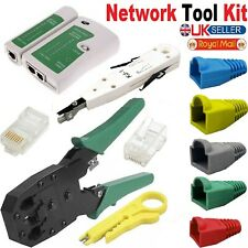 Ethernet Network RJ45 LAN Cat5 Cat5e Cable Crimp Plug End Connector Boots UK