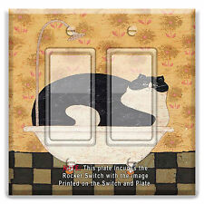 Light Switch Plate Cover Fat Cat Bathroom Bathtub  w/ Rocker Switch  Outlet
