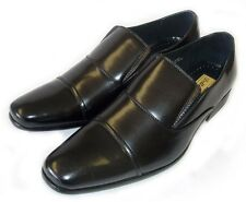 NEW *DELLI ALDO* MENS LEATHER DRESS SHOES LOAFERS SLIP ON COMFORT19109 /Black