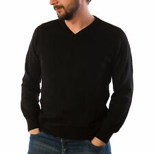 Edinburgh Merino Wool Men's Plain V-Neck Jumper