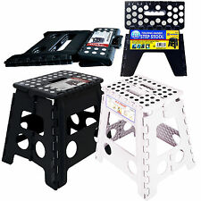 LARG FOLDING HANDY STEP STOOL KITCHEN BATHROOM STORAGE COLLAPSIBLE MULTI PURPOSE