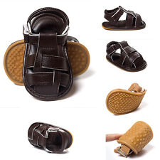 0-18M Baby Toddler Infant Boys Sandals Shoes Soft Sole Shoes PU Leather Cute