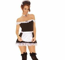 Sexy Maid French Costume Apron Hat Women's Adult Hot Lingerie Dress 9395