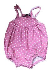 Newborn Infant Baby Girls Polka Dot Swimwear One Piece Swimsuit Romper SZ0-2Year