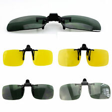 Wow Driving Night Vision Clip-on Flip-up Lens Sunglasses Glasses Cool Eyewear