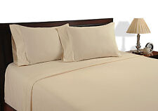 SUPREME (BEIGE SOLID) 1000TC COMPLETE BEDDING COLLECTION 100% COTTON ALL SIZE