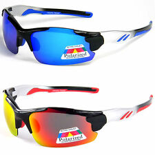 Sunglasses UV400 POLARIZED Mirror Biker Fishing Sports Wrap Eyelevel Clear Water