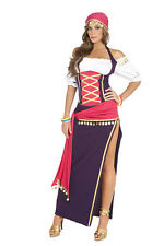 Gypsy Maiden Womens Costume Top Skirt Halloween Fortune Teller Dress 9225