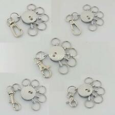 One Snap Swivel Multi Removeable Detatchable Keychain 5 removable Keyring Clip