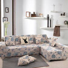 1/2/3 Seater Stretch Slipcover Sofa Protector Slip Cover Vintage Mimosa Style