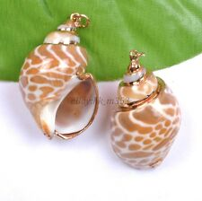 Wholesale Natural Shell Nice Charms Necklaces & Pendants 40X22MM Free Shipping