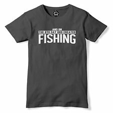 On The 8th Day God created Fishing Tshirt Funny T Shirt Fish Carp Fisherman PT12