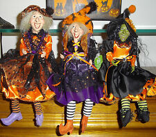 "RAZ Imports 15"" Witch Ornament-Posable Legs-Hang Or Sit-Halloween Collectible"