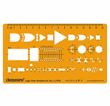 Logic Gate Template Drafting Design Stencil Symbols Technical Drawing Scale