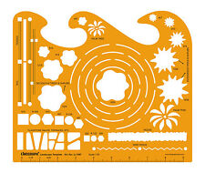 Landscape Template Drafting Design Stencil Symbols Technical Drawing Scale