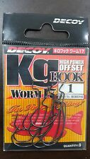 DECOY KG HOOK WORM 17 HIGH POWER OFFSET HOOK Size#(1,2,1/0,2/0,3/0,4/0,5/0)