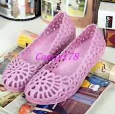 New Womens Sandals Jelly Hollow Out Slip On Ventilate Breath Summer Beach Shoes