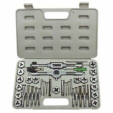 40PC PRO TAP AND DIE SET METRIC WRENCH CUTS M3-M12 BOLTS ENGINEERS KIT HARD CASE