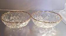 2 Small crystal bowls with gold gilt edging