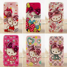NEW Hot Cute Cartoon 3D bow Hello kitty case cover for apple iphone 6/6s 6S plus