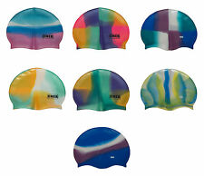 CHEX 100% Silicone Abstract Grade A Strong Swimming Swim Cap Coloured Patterned