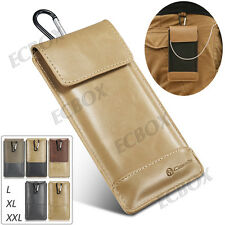Retro Leather Pouch Sleeve Pocket Camping Bag Case Cover For Most of Cell Phone