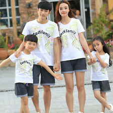 Summer Family clothes casual women girl men Boy t shirt pants cozy family sets