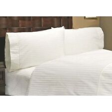Home Bedding Sets-Duvet/Fitted/Flat 1000TC Egyptian Cotton White Striped