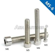 M5 / M6 Stainless Steel Metric Full Thread Hexagon Socket Cap Head Screws Bolts
