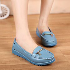 Women Casual Comfort Leather Slip on Loafers Moccasin Flats Oxfords Single Shoes
