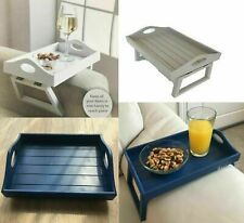 RETRO WOODEN SOFA ARM CHAIR TRAY MEDIA ORGANISER SNACK SERVING TRAY ARM REST