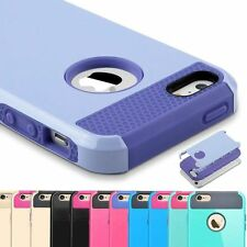 Hybrid Shockproof Rugged Rubber Gel Hard Cover Case Skin for Apple iPhone5&5s SE