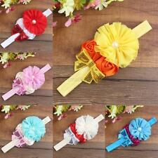Kids Girl Baby Headband Toddler Bow Pearl Flower Hair Band Hair Accessories