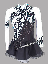 Figure ice skating dress  roller skater dance show costume twirling Rock`n Roll