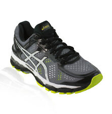 Asics - Gel Kayano 22 Running Shoe - Charcoal/Silver/Lime