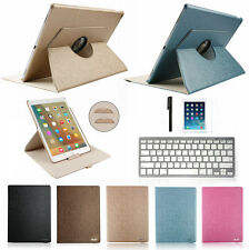 Bluetooth Keyboard+360 Rotating Smart Leather Case Cover For iPAD AIR ipad 5