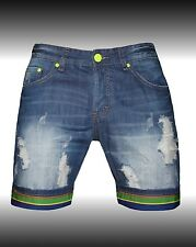 BERMUDA SHORTS MAN Y.TWO DENIM RIPPED WITH LAPEL SIZES 42 44 46 48 50 52