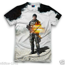 3D T-shirt  Battlefield 4 Soldier Cool Full Print New Russian Sports Big sizes!