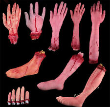 Cut Off Severed Fake Bloody Hand Finger Foot Halloween Prop