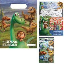 Good Dinosaur Party Bags Plastic Loot Bag Favours Stickers and Colouring Book