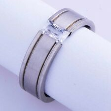 Mens Womens jewelry Ring Gemstone band 14k Gold Filled Size 7 8 9 10