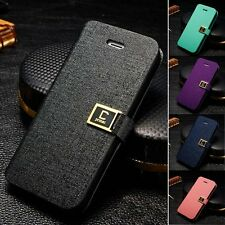 Wallet Card Holder Flip PU Leather Pouch Stand Case Cover Skin for iPhone4 5s SE