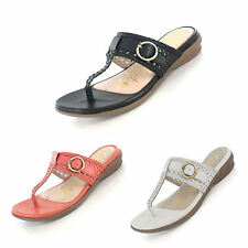 Ladies SIZE 4 - 8 GLUV Black Leather Sandals Toe Post Comfort NEW Barcelona