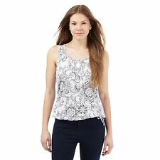 The Collection Womens White Floral Print Bubble Hem Top From Debenhams