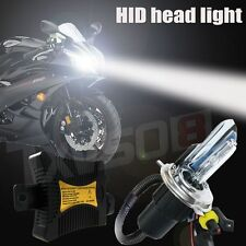 55W HID Hi/Lo H4 Bi-Xenon Motorcycle Conversion Slim Ballast Kit Headlight Bulbs