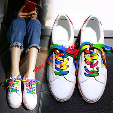 2016 Womens Cow Leather Multicolor Lace-up Fashion Sneakers Sports Casual Shoes