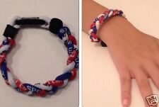 Braided Titanium Ionic Sports Red White Blue Wristband Bracelet Energy Power