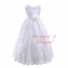 NEW Girls Formal Dress Ball Gown Wedding Bridesmaid Party Prom Flower 7-14 Years