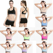 Womens  Leisure Athletic Gym Exercise Clothes Running Yoga Fitness Sports Suits